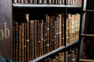 Books on shelf italy ancestry research